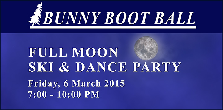 Music at the Paul Smiths VIC: Bunny Boot Ball -- Full Moon Ski and Dance Party