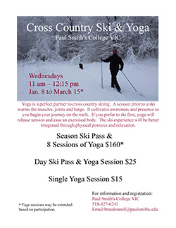 Cross Country Ski and Yoga 2014 Flyer