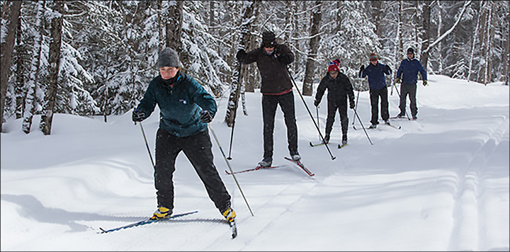 Cross Country Skiing in the Adirondacks: Come to the VIC Ski Club on Tuesays and Saturdays.  Photo by Nancie Battaglia.