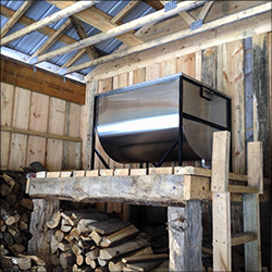 Merveilleux Maple Sugaring At The VIC: Storage Tank In The VIC Sugar House